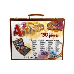 Image 4 - 150pcs Painting Tools Big Box Brush Watercolor Pencil Watercolor Child Stationery Set Wooden Box