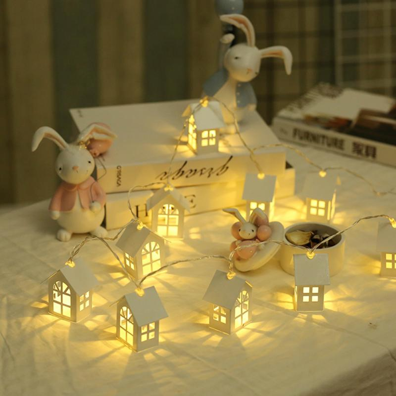 2m 10leds battery operated usb led wood house christmas - Battery operated car interior lights ...