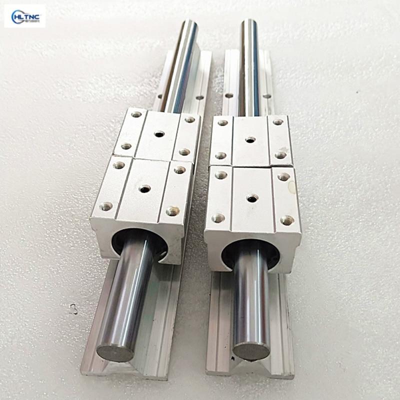 free shipping 2pcs SBR16 16mm linear rail any length support round guide rail 4pcs SBR16UU slide