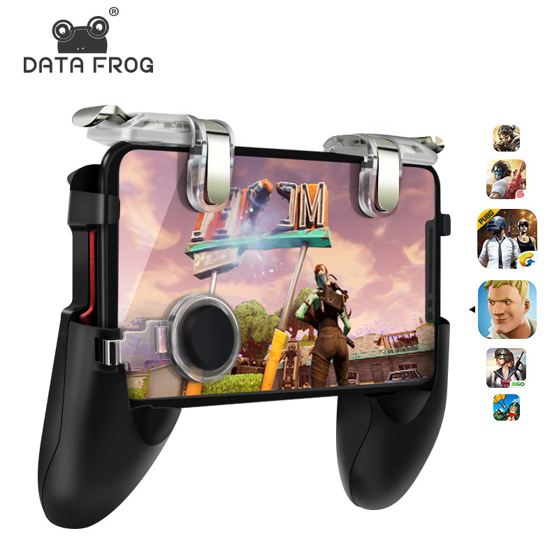 Data Frog Mobile Phone Game Controller L1R1 Shooter Triggers Fire Button For Android Iphone Pubg Games