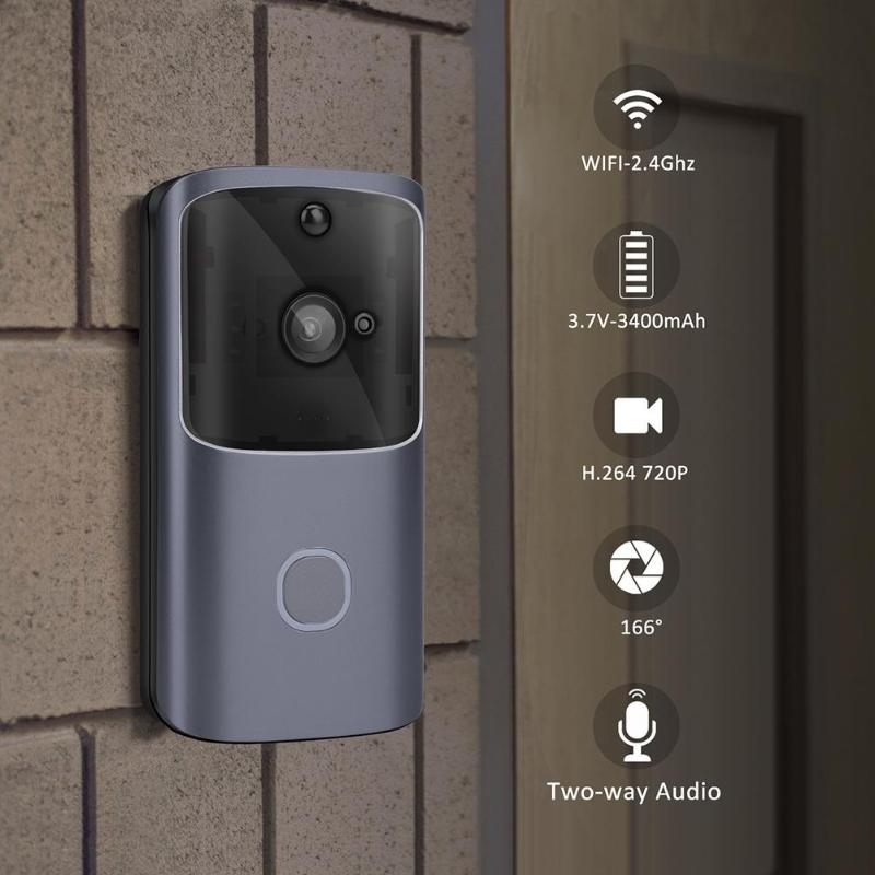 M10 720p WiFi Smart Video Doorbell Camera APP Control Remote Monitoring Video Intercom For Apartments IR Alarm Wireless SecurityM10 720p WiFi Smart Video Doorbell Camera APP Control Remote Monitoring Video Intercom For Apartments IR Alarm Wireless Security