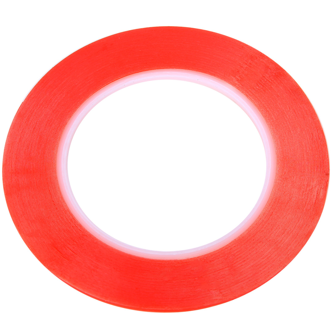 25M Acrylic Red Film Transparent Double Sided Sticky Adhesive Tape for Cell Phone LCD Screen Repair Tool Width 2/3/5/8/10mm