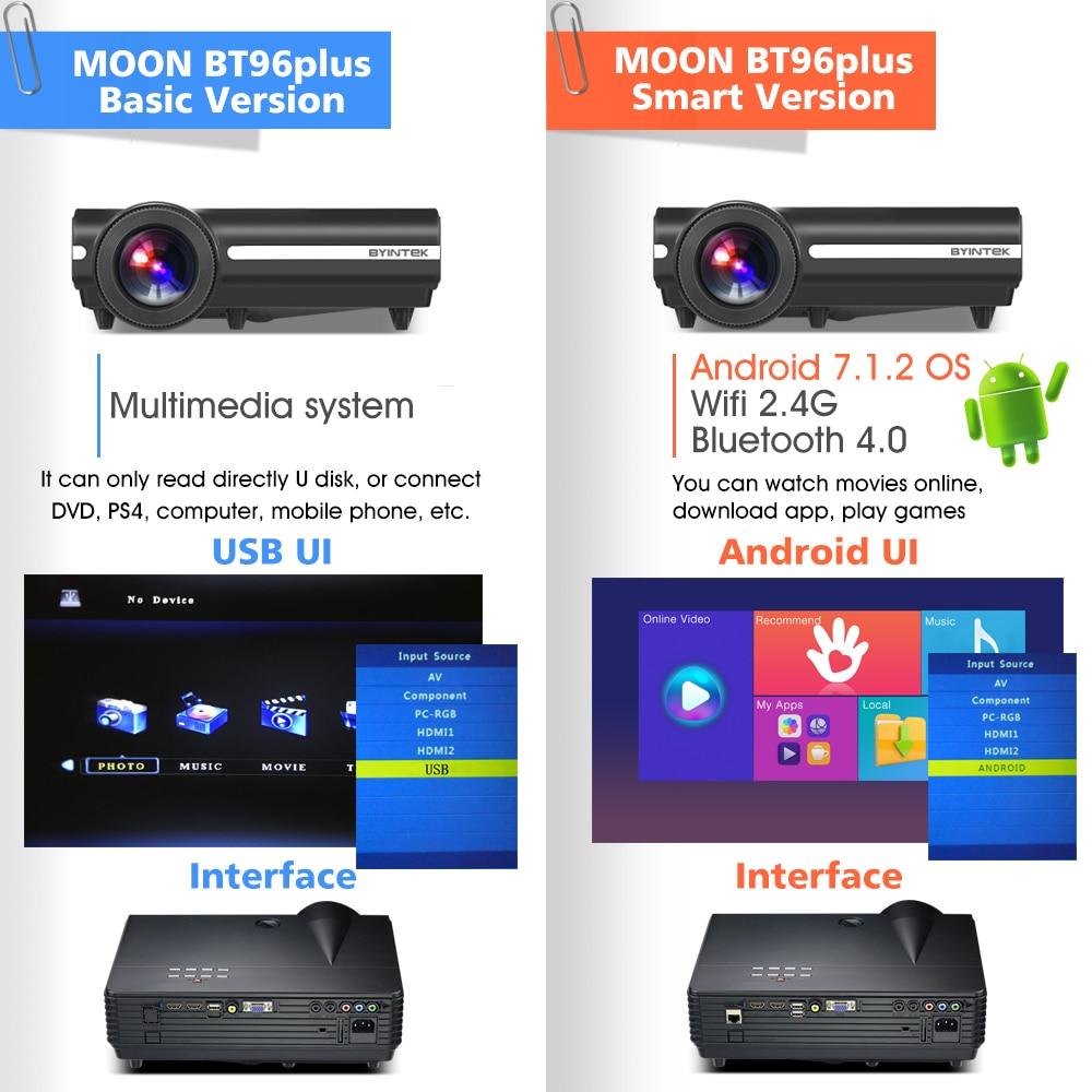 BYINTEK MOON BT96Plus Hologram 200inch LED Video HD Projektor për - Audio dhe video në shtëpi - Foto 4