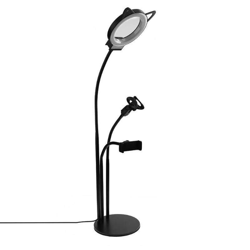 360 Grad Flexible Desktop Halterung Ständer Halter Mit Dimmbare Füllen Licht Kann Wiederholt Umgeformt Werden.