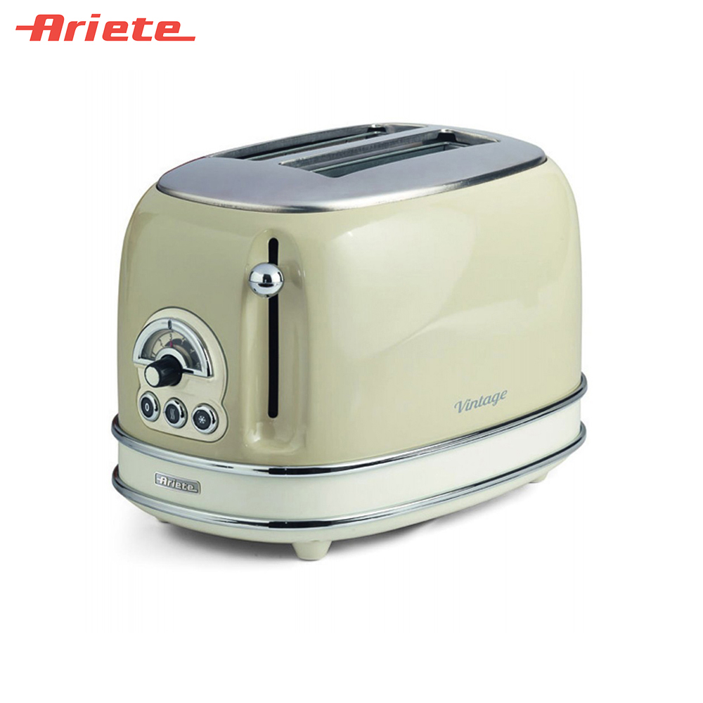 Toasters Ariete 8003705114906 Household Automatic Bread Toaster Baking Breakfast Machine Stainless steel 2 Slices Bread Maker
