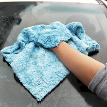 2019 Size 40*40CM Car Wash Microfiber Towel Ultrasonic Coral Wipe Vehicle Towel  Car Care Cloth For Car Home Kitchen Cleaning