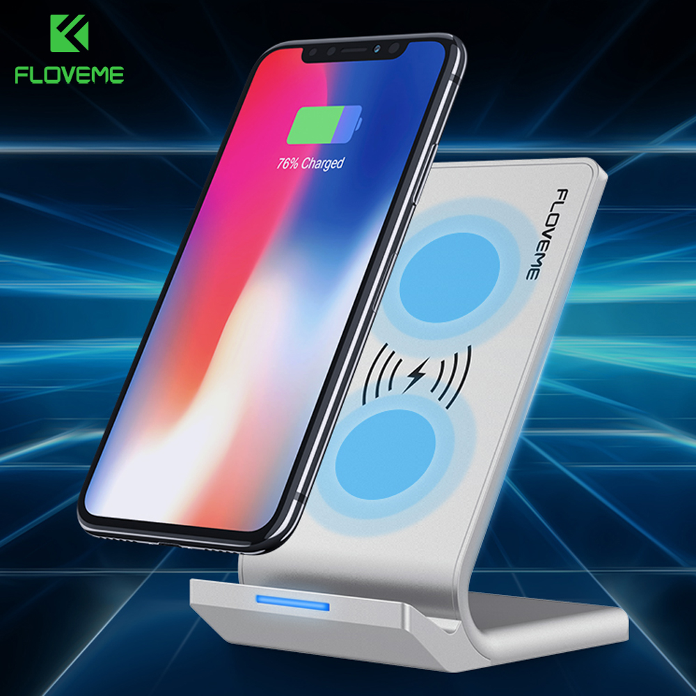 FLOVEME Universal Qi Fast Wireless Charger For iPhone X 10 8 Plus Charger Wireless Charging For Samsung Galaxy S8 Note 8 For LG