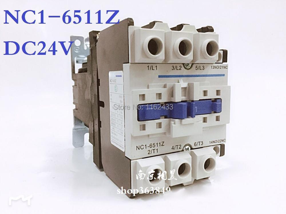 NC1-6511Z 65A 24V 3P NO + NC DC contactor NC1 series contractorNC1-6511Z 65A 24V 3P NO + NC DC contactor NC1 series contractor