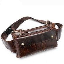 New Small Chest Bags Messenger Shoulder Bag For Men Men's Genuine Leather Waist Bag Belt Men Fanny Pack Phone Pouch