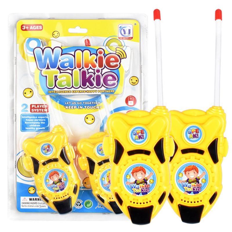 2pcs/set Children Portable Walkie Talkies 2-Way Radio Kids Child Mini Handheld Toys Walkie Talkie Birthday Gift