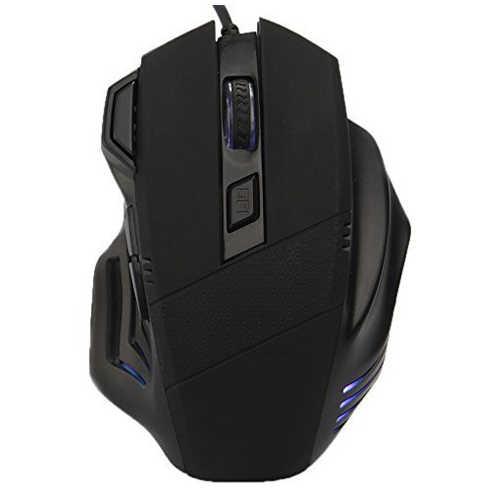 Эргономичная USB Черная Мышь для игр 800 1200 1600 2400 dpi