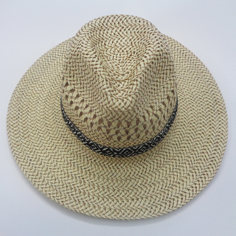 Spring Summer Straw Hat Jazz Outdoor Men's Sunshade Hats Women Leisure Beach Sunscreen Holiday Fashion Breathable Cool Cap H513