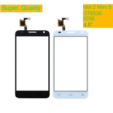 10PCS For Alcatel One Touch idol 2 Mini S 6036 OT6036 6036A 6036Y OT6036Y Touch Screen Touch Panel Sensor Digitizer Front Glass стоимость