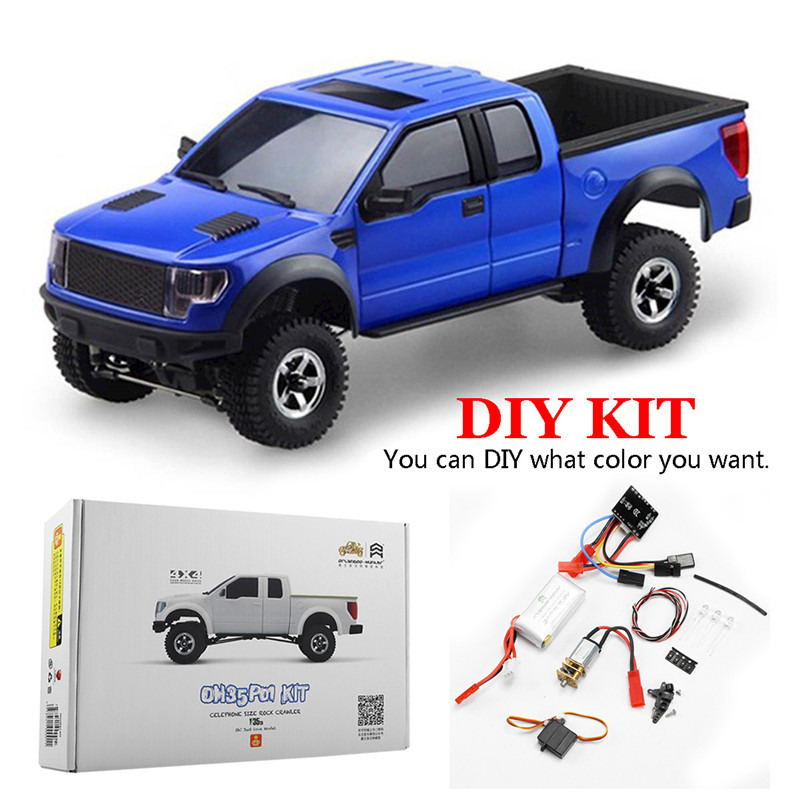 Orlandoo OH35P01 F150 <font><b>1</b></font>/<font><b>35</b></font> EP Scale Simulation Climbing RC Crawler Car Parts DIY Assemble <font><b>KIT</b></font> With Brushed Motor ESC Kids Toys image