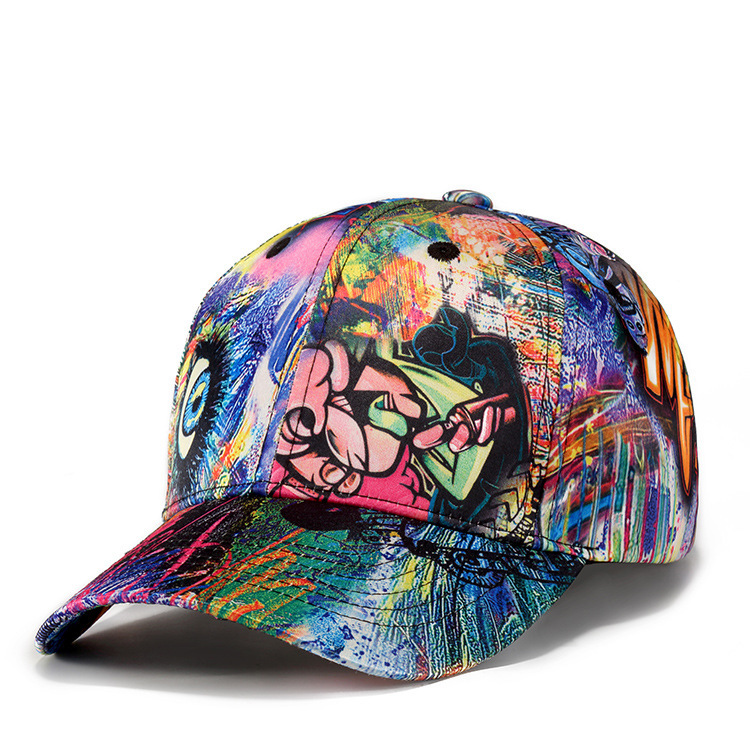 2018 New Fashion Graffiti Design   Baseball     Cap   Men Women Outdoor Sport Snapback Hat Abstract Graffiti