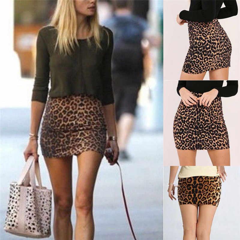 Heißer Verkauf Sexy Frauen Super Mini Leopard Röcke Mode Hohe Wasit Dünne Bleistift Rock Herbst Sommer Damen Nachtclub Party