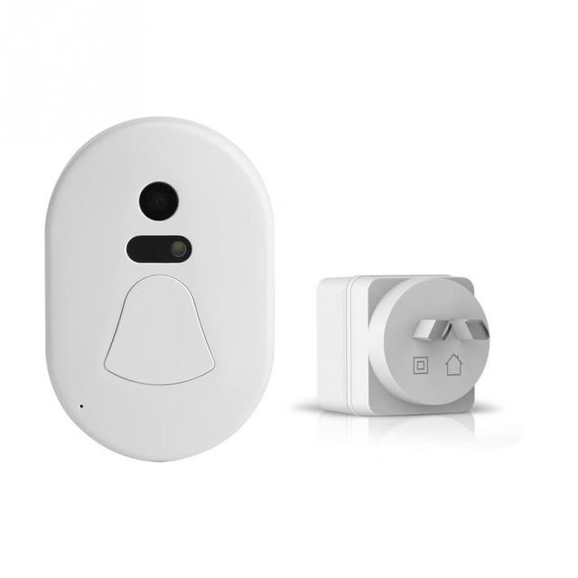 Domu bezprzewodowy dzwonek dzwonek do drzwi WiFi wizualny aparat telefon Anti-theft Alarm bezpieczeństwa w domu AU wtyczka 110-220 V