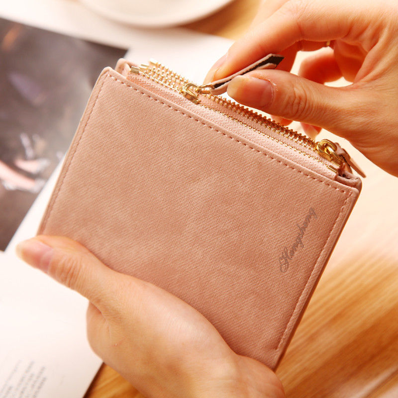 Fox Running Design Leather Purse with Zipped Compartments RFID Protected Ladies Gift 142