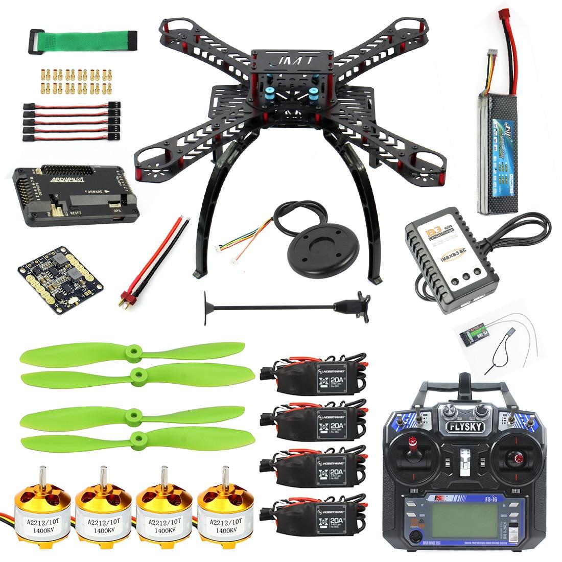 DIY Kit GPS Drone RC Carbon Fiber Frame Multicopter FPV APM2.8 1400KV Motor 20A ESC flysky 2.4GFS i6 Transmitter Receiver