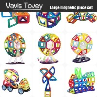 Vavis Tovey 30 200pcs Magnetic Building Blocks sets free sticker Magnet Designer Construction Toys Kids brithday gifts