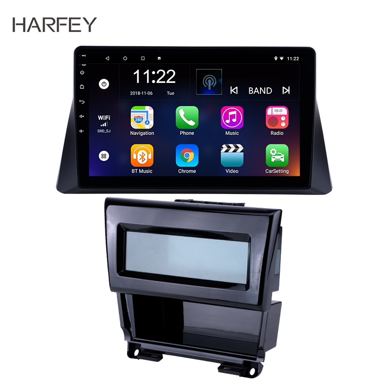 Harfey 10.1 Inch 2Din Head Unit Car Radio Android 9.0 DAB+ DVR <font><b>GPS</b></font> Navi Multimedia Player For <font><b>2008</b></font> 2009 2010-2012 Honda <font><b>accord</b></font> 8 image