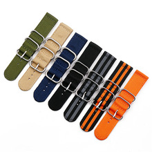 7 color NATO nylon strap pin buckle watch accessories 18mm20mm22mm24mm men band outdoor sports waterproof women