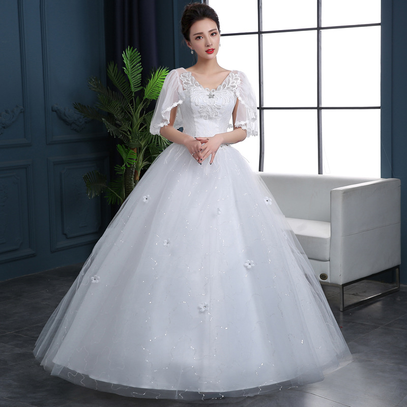 Popodion Wedding Dress 2019 Wedding Gowns Lace Plus Size Wedding Dresses  Vestido De Noiva N1042