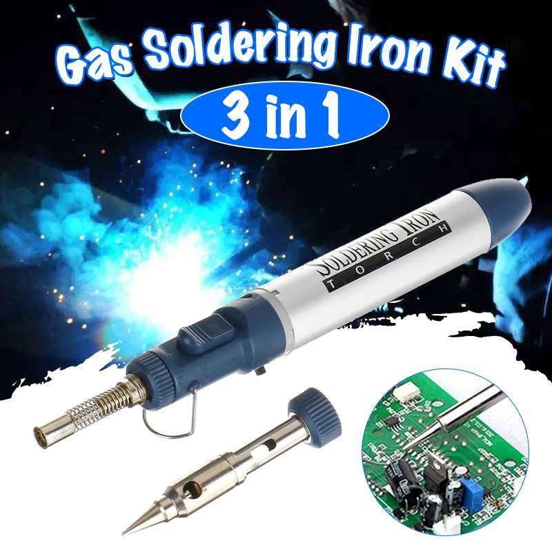 Professional Butane Gas Soldering Iron Cordless Welding Torch Solder Tool Electric Gas Soldering Iron Tools