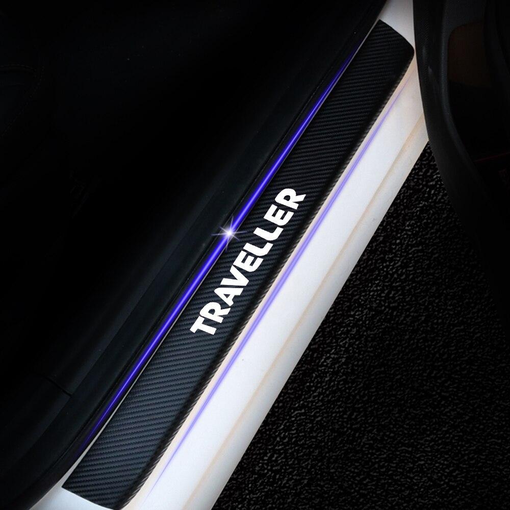 Fibre de Carbone Plaque de Seuil Protecteurs Autocollant Scuff Scratch R/ésistant Accessoires de Garniture de Protection Gemmry 4 pi/èces Protections de Seuils de Porte pour Hyundai I20
