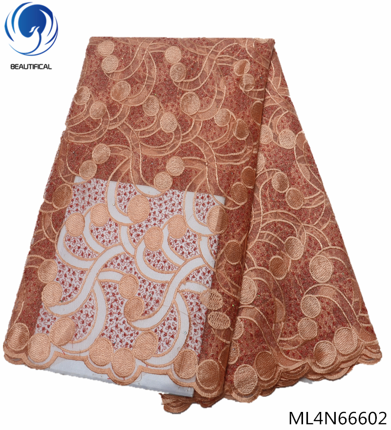 BEAUTIFICAL nigerian lace fabric 2018 high quality african lace fabric french net lace 5 yards lot