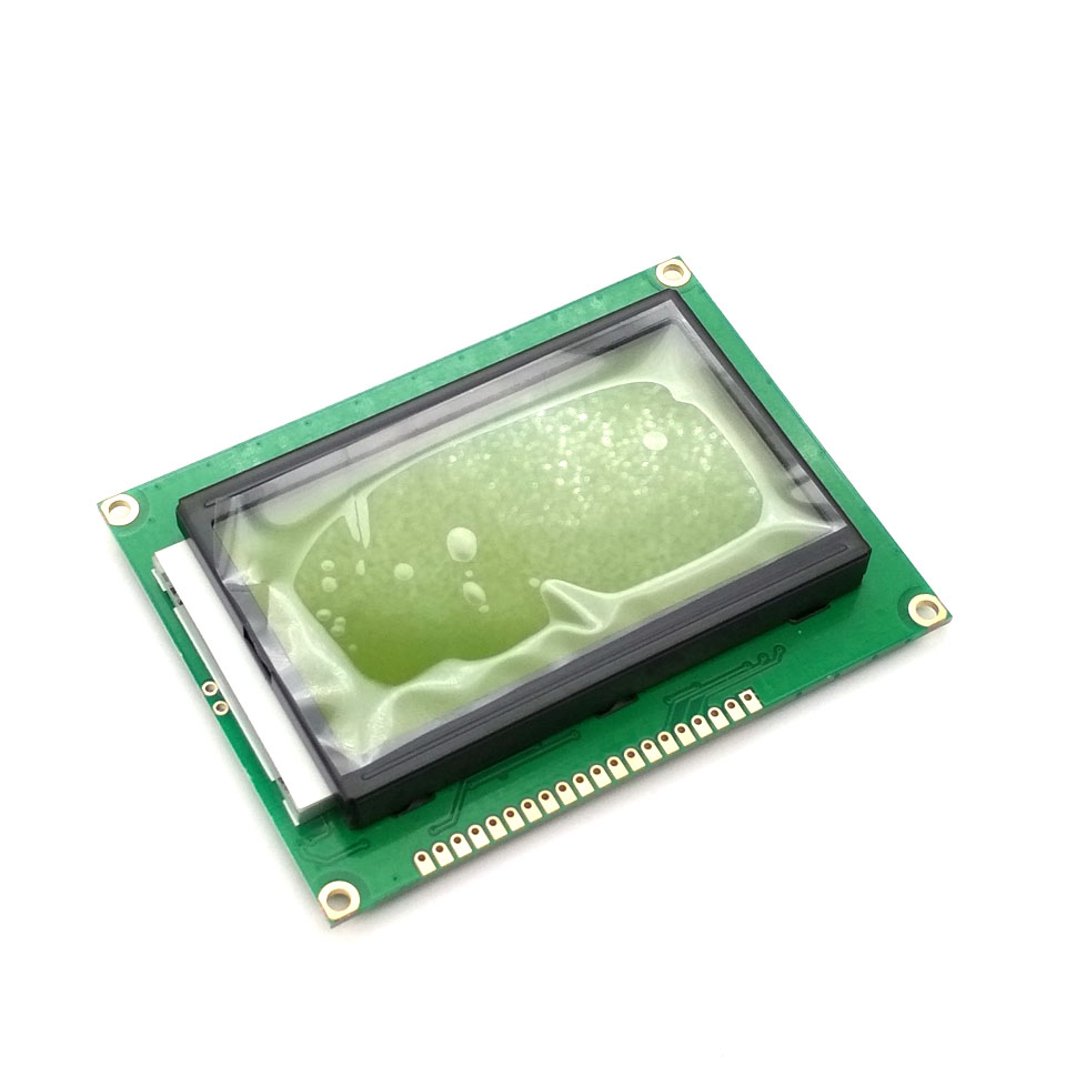 12864 128x64 Dots Graphic Yellow GreenBlue Color with Backlight LCD Display Module ST7920 Parallel Port for arduino Diy Kit