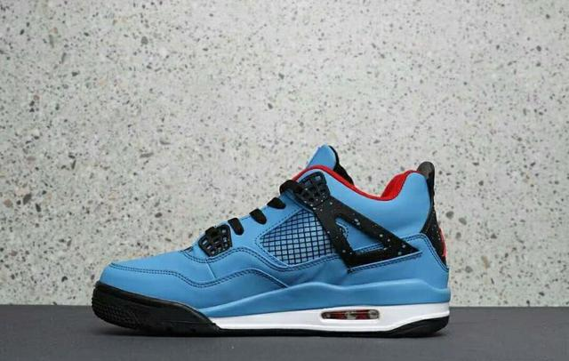 cheap for discount b99b6 cb1bb Jordan Air Retro 4 Iv Men s Jordan Basketball Shoes Bred Sky Blue Oreo  Joint Thunder Sports Outdoor Sports Shoes 40-46