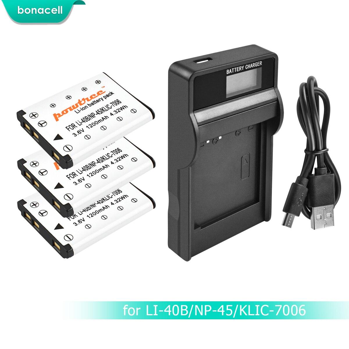 USB Cargador Doble para Fuji NP-40 // Fujifilm Finepix F650 F700 Z1 Z2 Z3/… // Samsung NV8/… // Pentax Optio A10 A20 A30 Ver Lista de compatibilidad