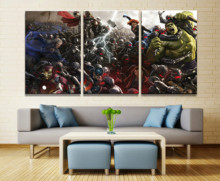 Hot Sales Without Frame 3 Panels Picture Marvel Avengers Film Canvas Print Painting Artwork Wall Art Wholesale