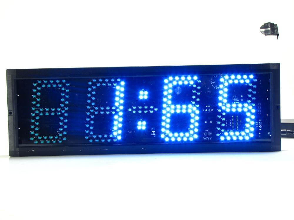 Супер большие цифровые настенные часы светодиодный будильник таймер обратного отсчета пульт дистанционного управления большой номер свет... - 4