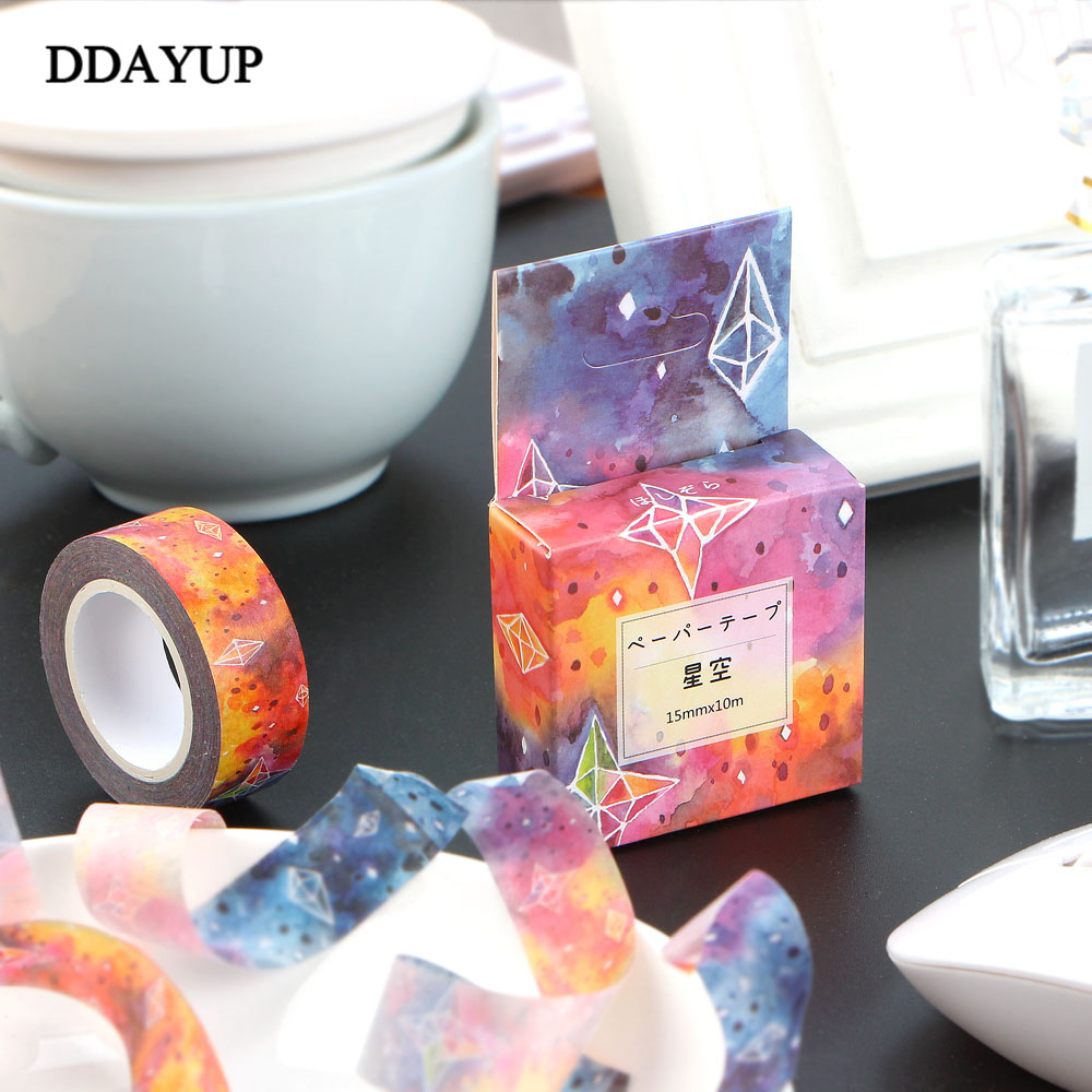 1Pcs Stars Sky Washi Tape Decorative Kawaii Washi Tape Scrapbooking Masking Tape Stickers Scrapbooking Washitape Masking Tape