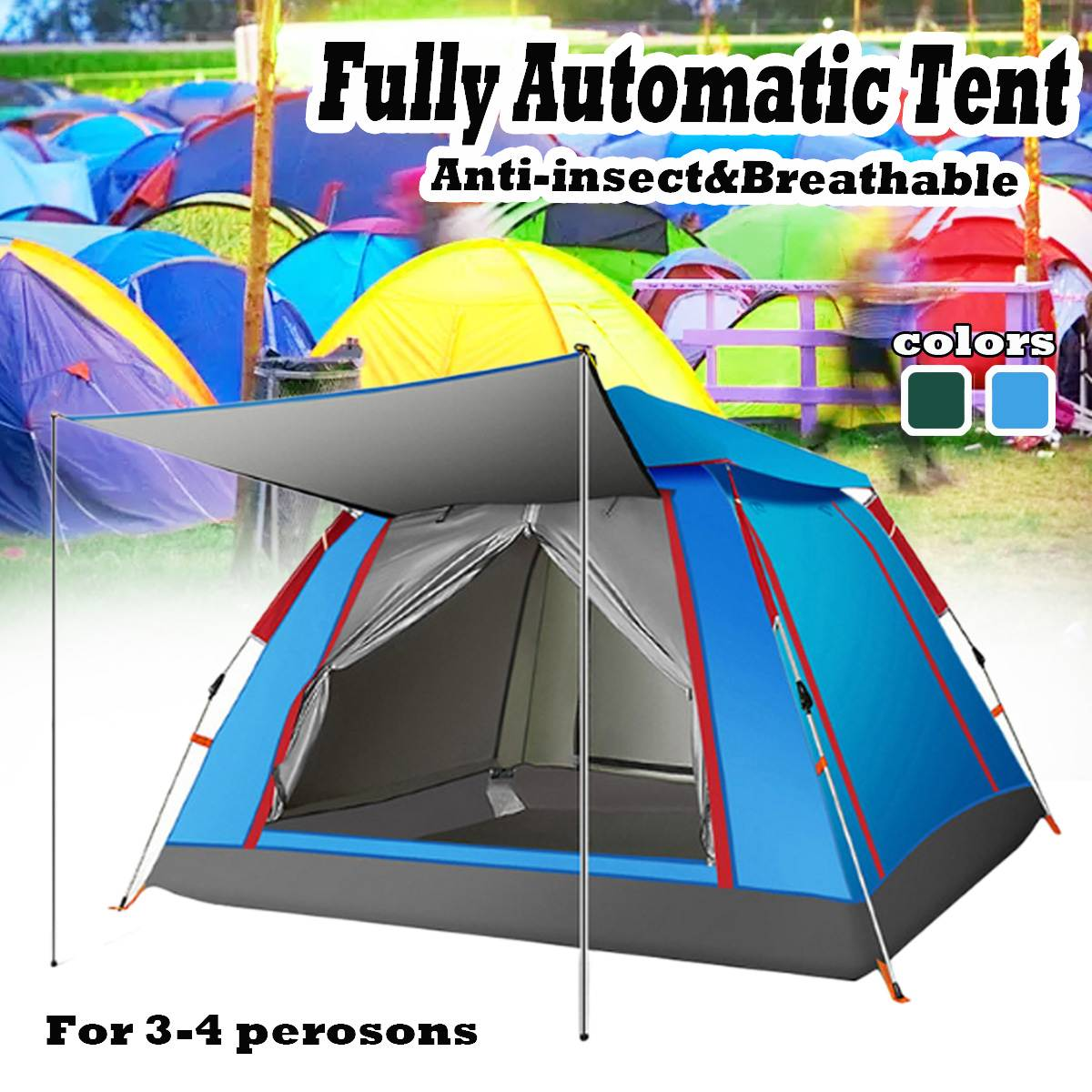 3-4 Person Tourist Tent popup Camping Tents Outdoor Camping Beach Open Tent Waterproof Tents Large Automatic ultralight family3-4 Person Tourist Tent popup Camping Tents Outdoor Camping Beach Open Tent Waterproof Tents Large Automatic ultralight family