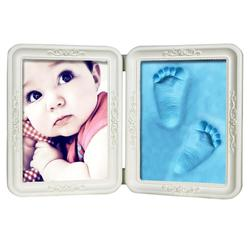 Baby Hand&Foot Print Hands And Feet Mold Maker Solid Wooden Photo Frame With Cover Fingerprint Mud Set Baby Growth Memorial Gift