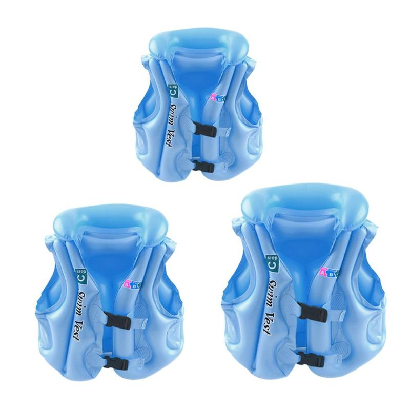 Summer Baby Swimming Float Jacket Safety Kids Inflatable Swim Vest Children Outdoor Beach Water Play Life Aid Vest Boating Vest