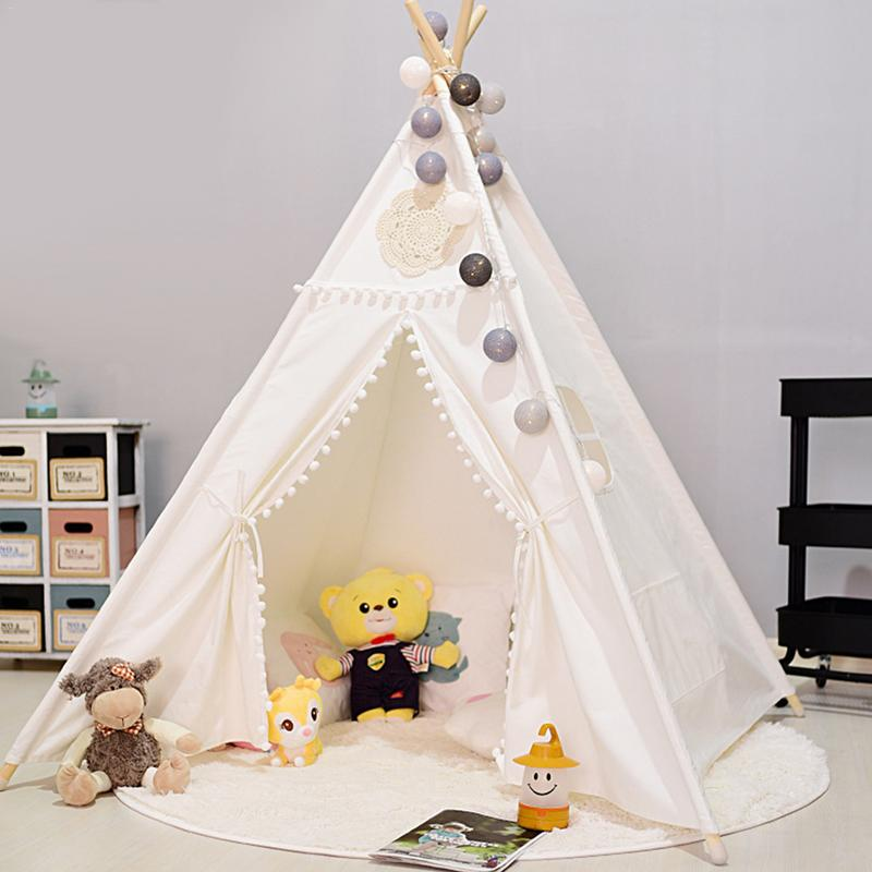 Baby Indian Style Outdoor Beach Canvas Bed Tent Play House Teepee Dream Princess Tents Indoor Toy Game Cubby House For ChildrenBaby Indian Style Outdoor Beach Canvas Bed Tent Play House Teepee Dream Princess Tents Indoor Toy Game Cubby House For Children