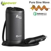 XP Pure Sine Wave Car Power Inverter 12v 220v Inversor 12 v 220 v DC to AC Auto 230 Volt Voltage Converter Quick Charger QC 3.0