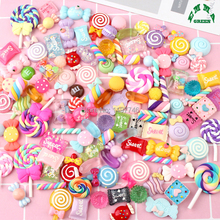 Colorful Candy Random Mix Lovely Flatback Resin Cabochons Scrapbook Craft 20mm DIY Phone Home Decor Handmade Accessories 10pcs hot sale 10pcs 20mm handmade leopard photo glass cabochons pattern domed jewelry accessories supplies h3 31