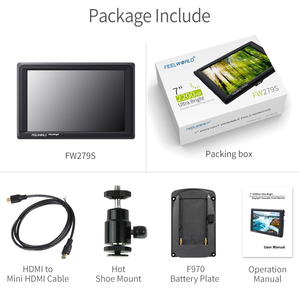 Image 5 - Feelworld FW279S 7 inch 3G SDI 4 K HDMI DSLR Camera Veld Monitor Ultra Heldere 2200nit Full HD 1920x1200 LCD IPS voor Buitenshuis