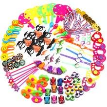 120 шт. Детские вечерние призы на день рождения, маленькие игрушки, набор, очки с усами, волшебная маска, медаль, звезды, Мультяшные шляпы