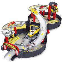 Rail Parking Storey Spiral Kids Vehicles Alloy 2 Kids Auto City Cartoon Garage Vehicles City Car Toy Truck r Roller Vehicle Car