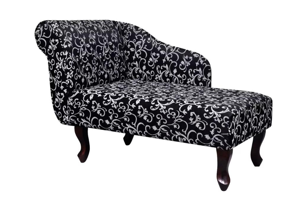 VidaXL Elegant Chaise Longue Avec Motif Floral Tissu Noir Et Blanc Living Room Furniture Sofa Chaise Lounge Black And WhiteVidaXL Elegant Chaise Longue Avec Motif Floral Tissu Noir Et Blanc Living Room Furniture Sofa Chaise Lounge Black And White