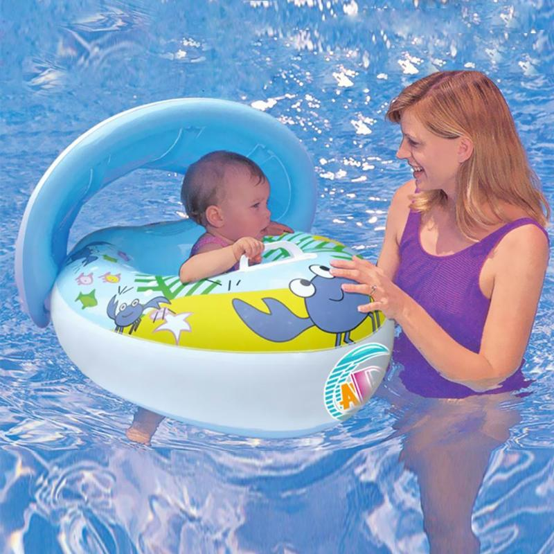 Baby Swimming Ring Safe Inflatable Swim Float  Circle Water Fun Toys For Children Kids Safe Beach Float Boat Summer Toy