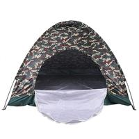 Camouflage Camping Tent Outdoor Portable Beach Tent For 4 Persons Single Layer Oxford Fabric Waterproof Tents 200x200x135Cm