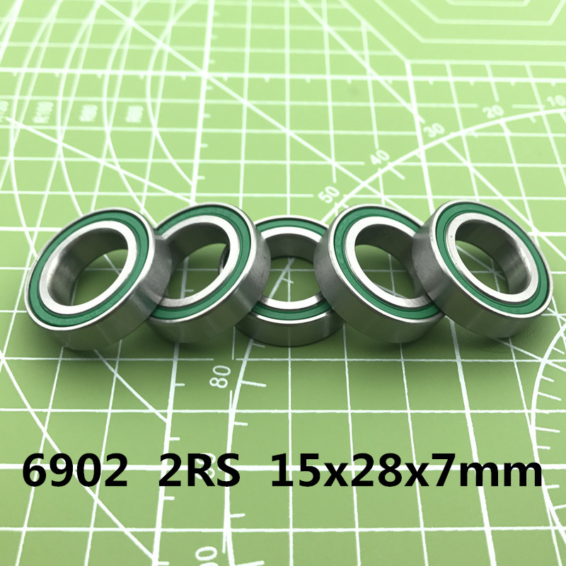 2019 Limited Free Shipping 2pc <font><b>6902</b></font>-<font><b>2rs</b></font> <font><b>Bearing</b></font> Abec-3 15x28x7 Mm Metric Thin Section <font><b>6902</b></font> <font><b>2rs</b></font> Ball <font><b>Bearings</b></font> 6902rs 61902 Rs image