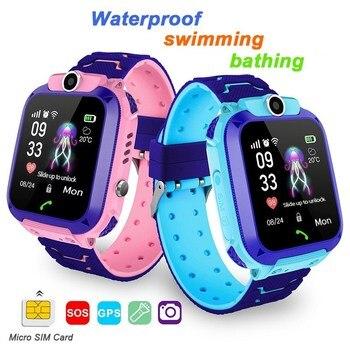 الأطفال ساعة تعقب كاميرا مقاوم للماء IOS أندرويد متعددة الوظائف ساعة اليد الرقمية هدايا أعياد ميلاد للأطفال Q12